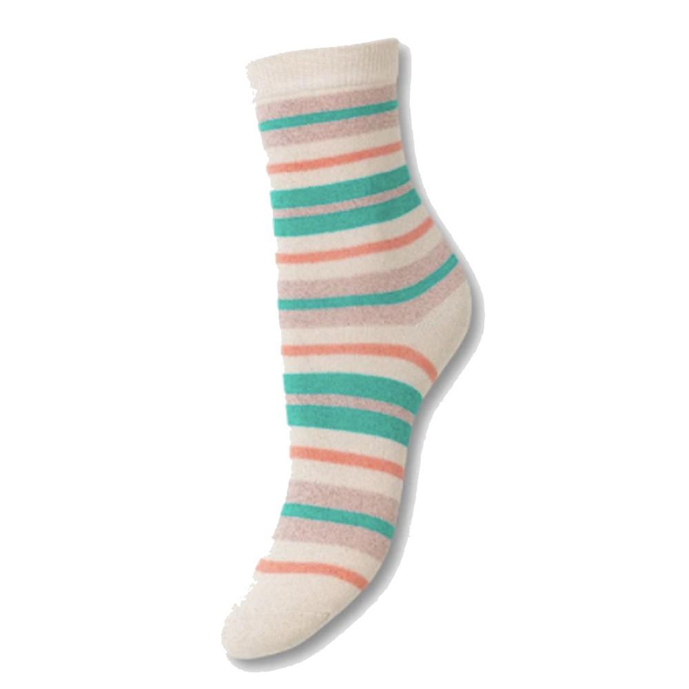 Dalea Multi Stripe Socks - Silver Gray