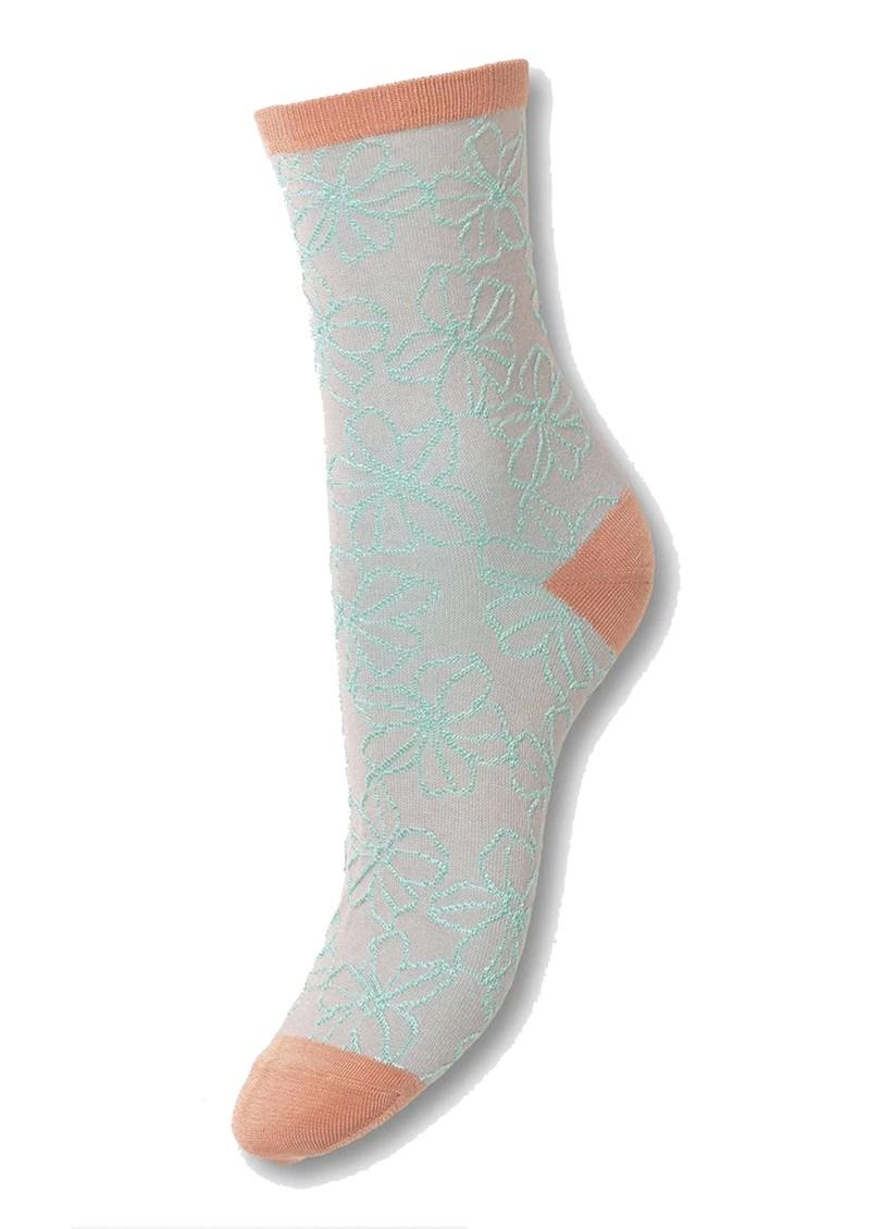 Becksondergaard Flowdy Sora Socks - Violet Ice main image