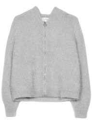 MAISON ANJE Lenebula Hooded Zip Jacket - Galet