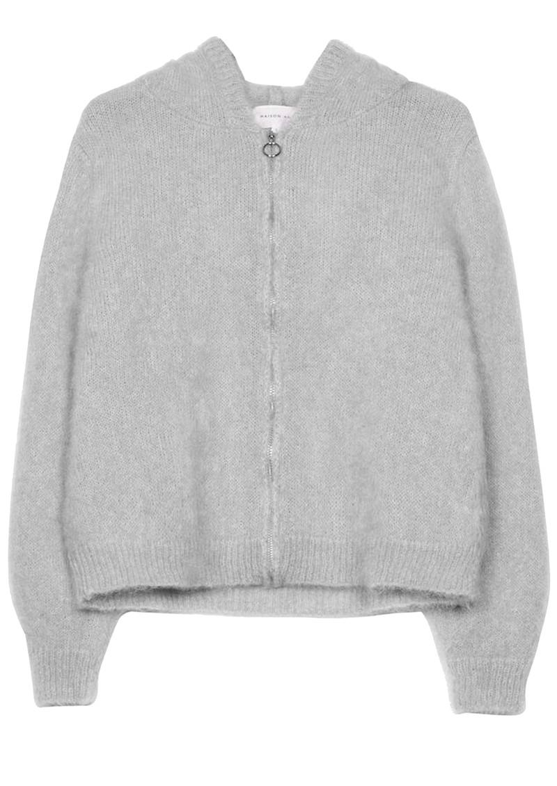MAISON ANJE Lenebula Hooded Zip Jacket - Galet main image