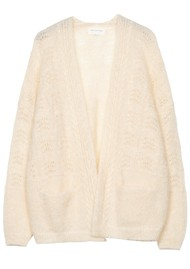 MAISON ANJE Lours Knitted Cardigan - Cream