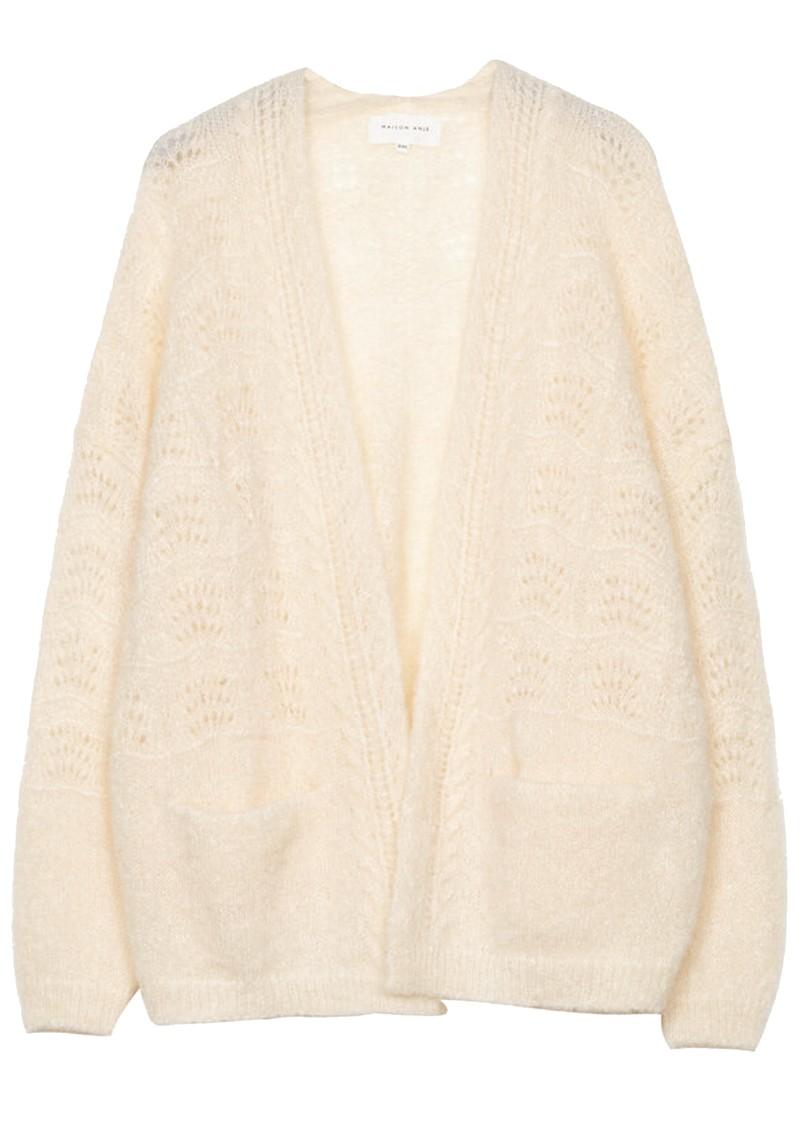 MAISON ANJE Lours Knitted Cardigan - Cream main image