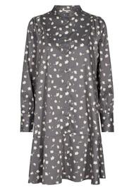LEVETE ROOM Miriam 1 Printed Dress - Grey