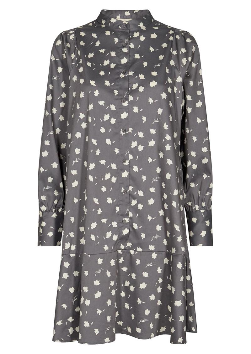 LEVETE ROOM Miriam 1 Printed Dress - Grey main image