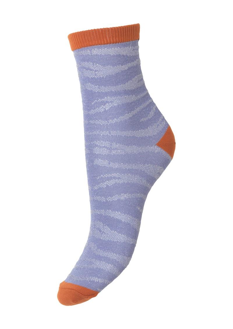 Becksondergaard Zebra Glitzi Socks - Eventide main image