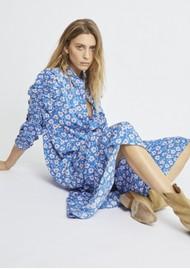 BERENICE Rozenn Printed Viscose Long Dress - Milos Print