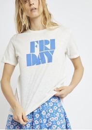 BERENICE Friday Slogan Tee - Off White