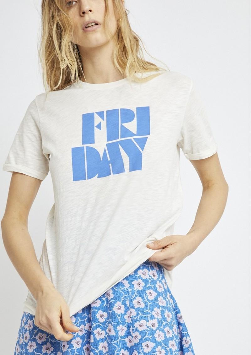 BERENICE Friday Slogan Tee - Off White main image
