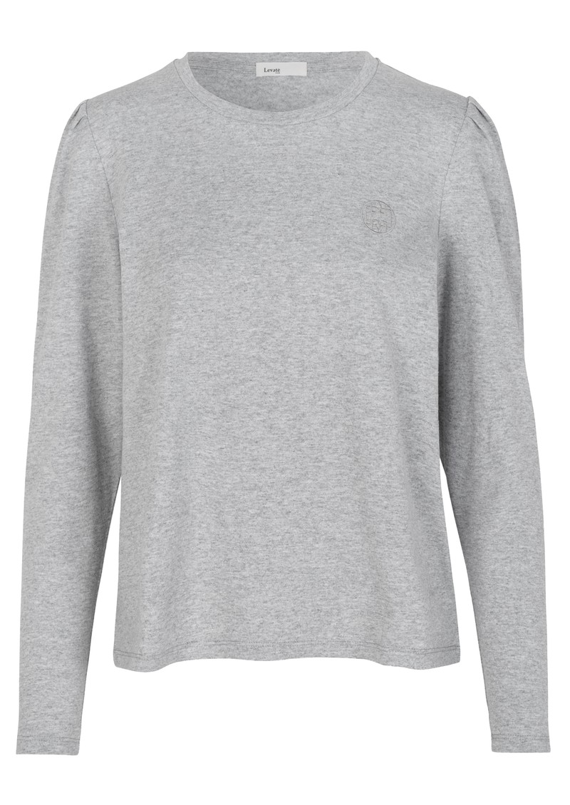 LEVETE ROOM Isol 3 Cotton Mix Long Sleeve Tee - Grey main image