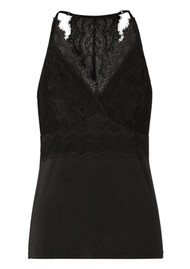Rosemunde Berlin Lace Strap Top - Black