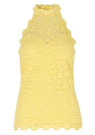 Rosemunde Delicia Lace Top - Vanilla Yellow