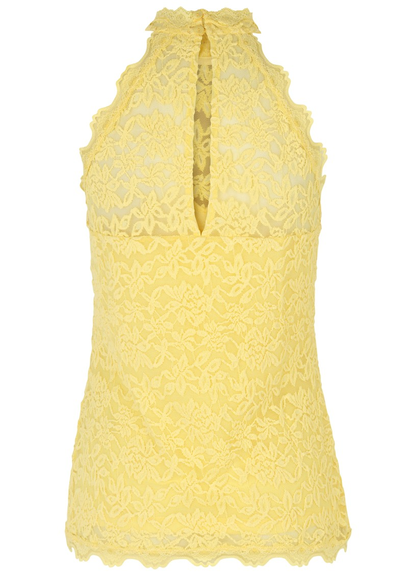 Rosemunde Delicia Lace Top - Vanilla Yellow main image