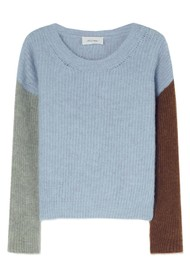 American Vintage East Knitted Round Neck Jumper - Sky Blue Melange