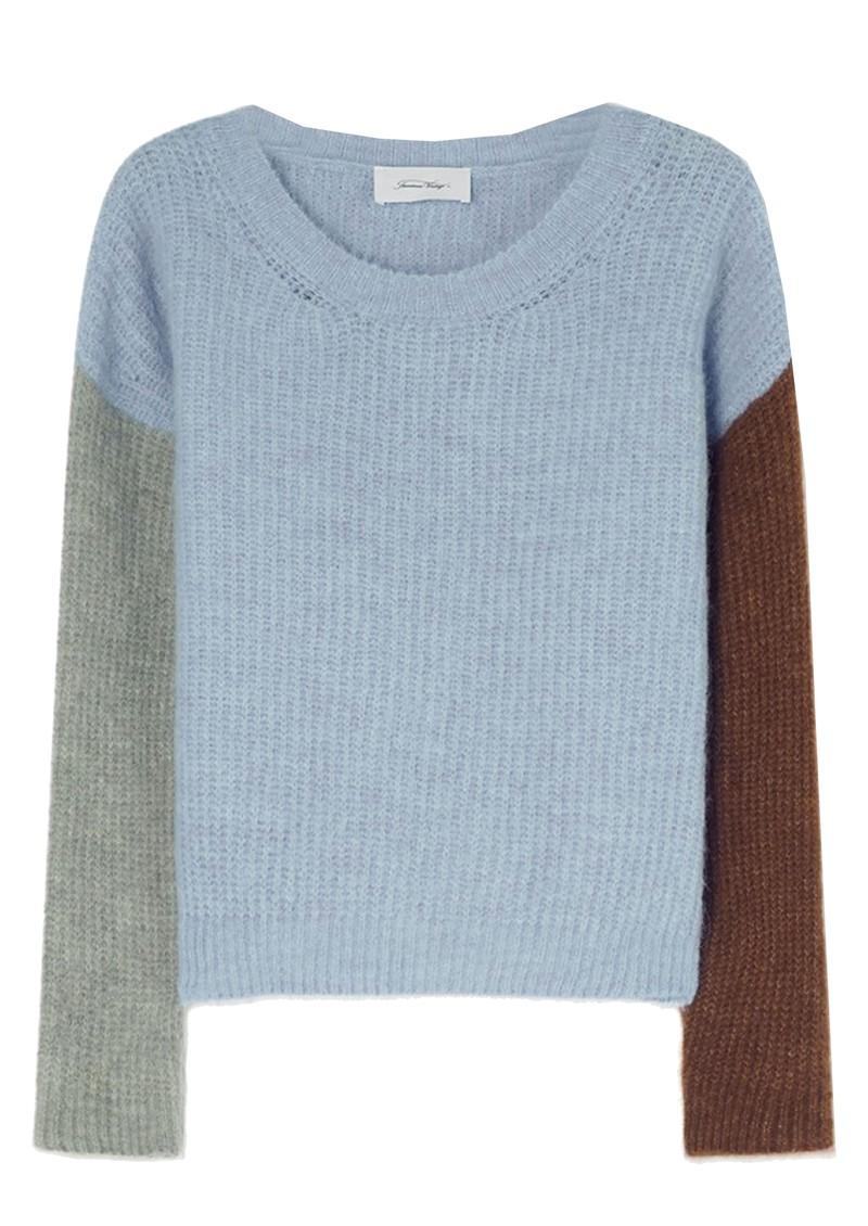 American Vintage East Knitted Round Neck Jumper - Sky Blue Melange main image