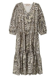 STELLA NOVA Luja Printed Dress - Leopard