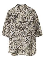STELLA NOVA Lycie Printed Blouse - Leopard
