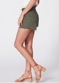 Paige Denim Mayslie Utility Shorts - Vintage Ivy Green