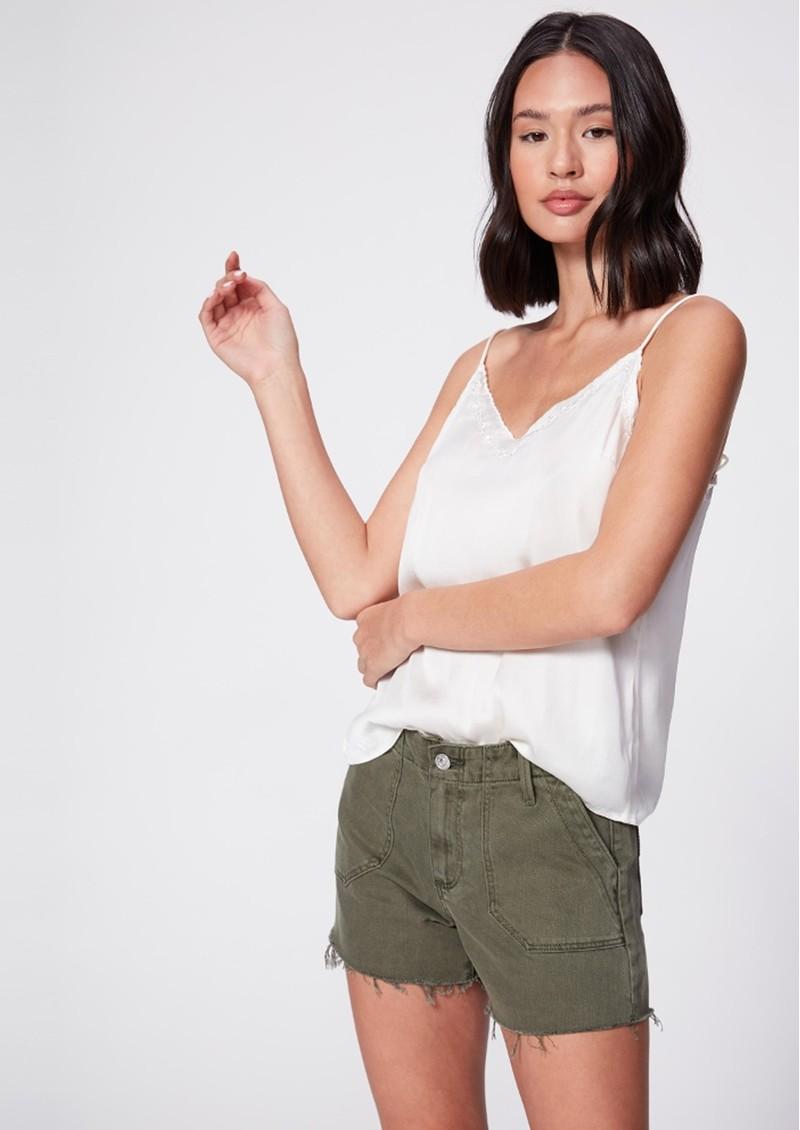 Paige Denim Mayslie Utility Shorts - Vintage Ivy Green main image