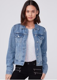Paige Denim Rowan Denim Jacket - Razz Distressed