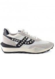 Ash Spider Studs Eco Trainers - Black & White