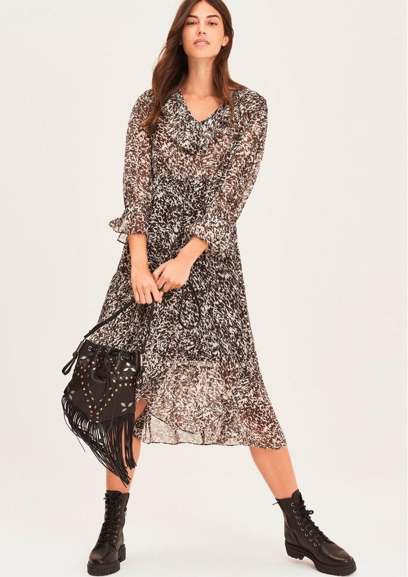 Ba&sh Erym Printed Midi Dress - Black  main image