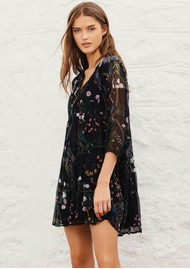 Ba&sh Goya Printed Mini Dress - Black