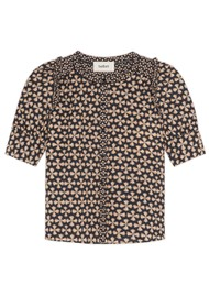 Ba&sh Colette Printed Cotton Shirt - Black