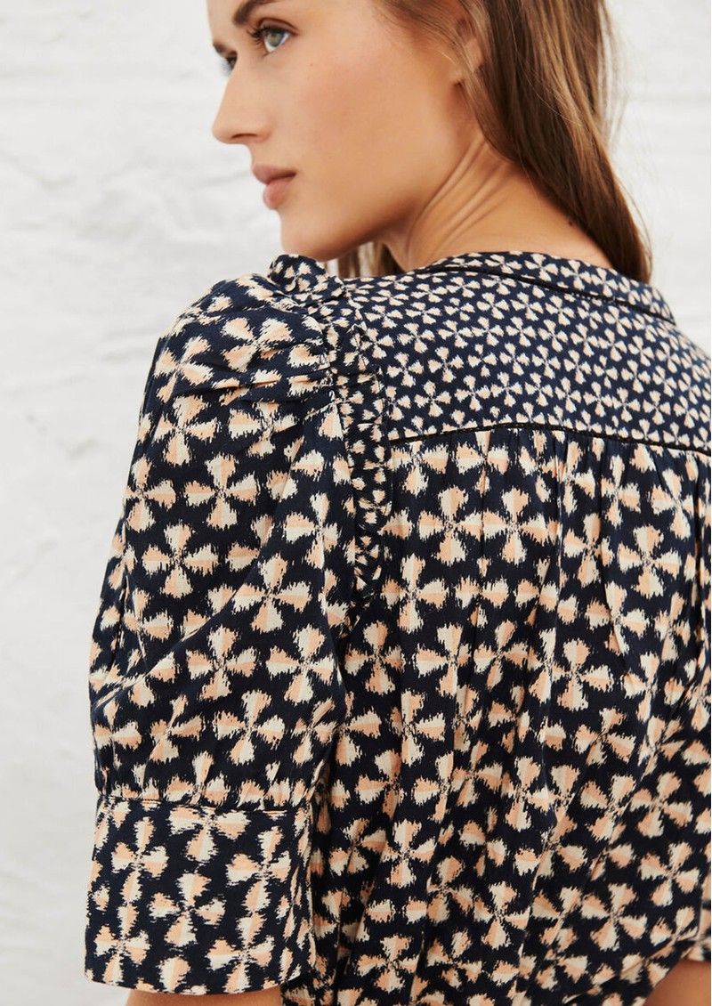 Ba&sh Colette Printed Cotton Shirt - Black main image
