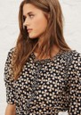 Colette Printed Cotton Shirt - Black additional image