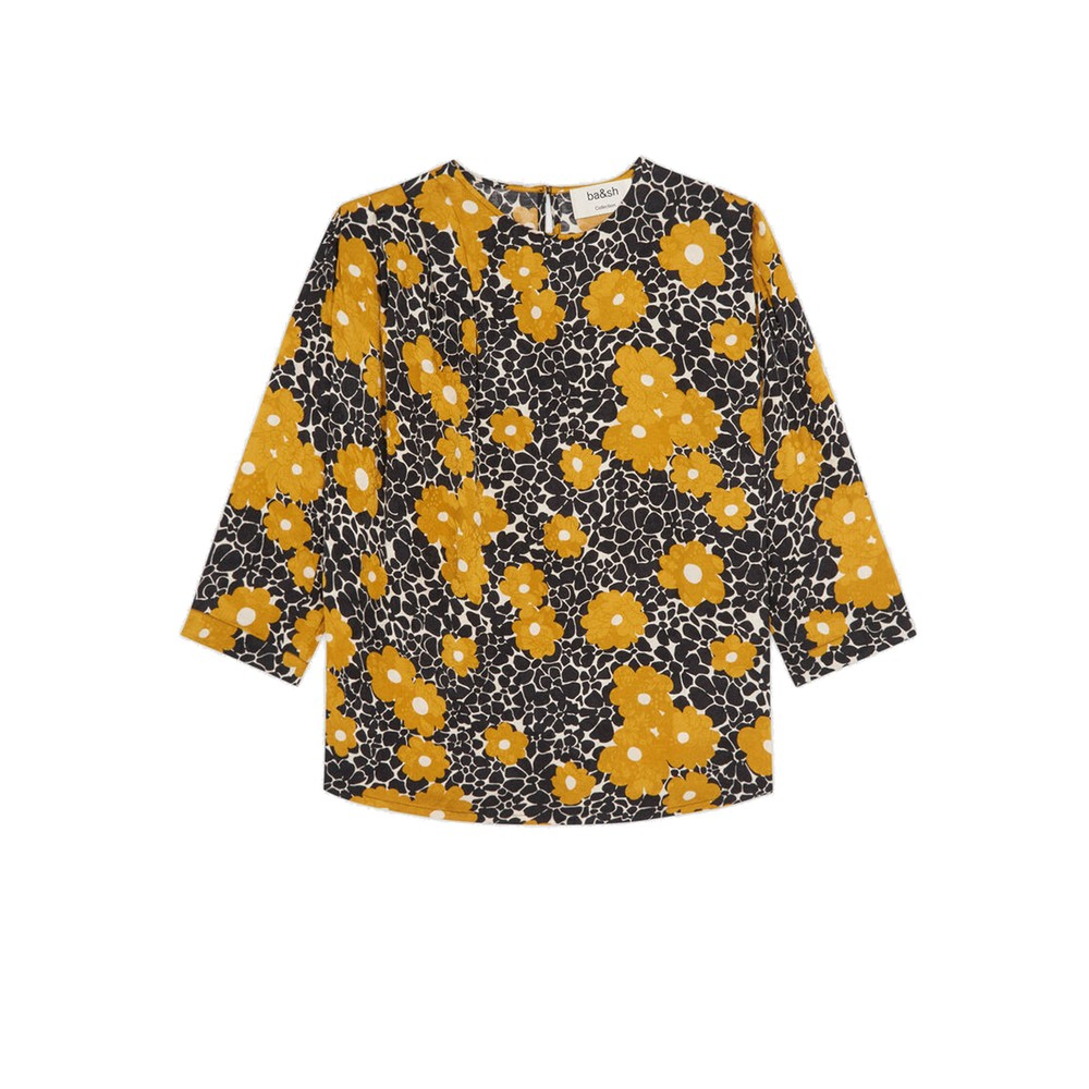 Bali Printed Blouse - Curry