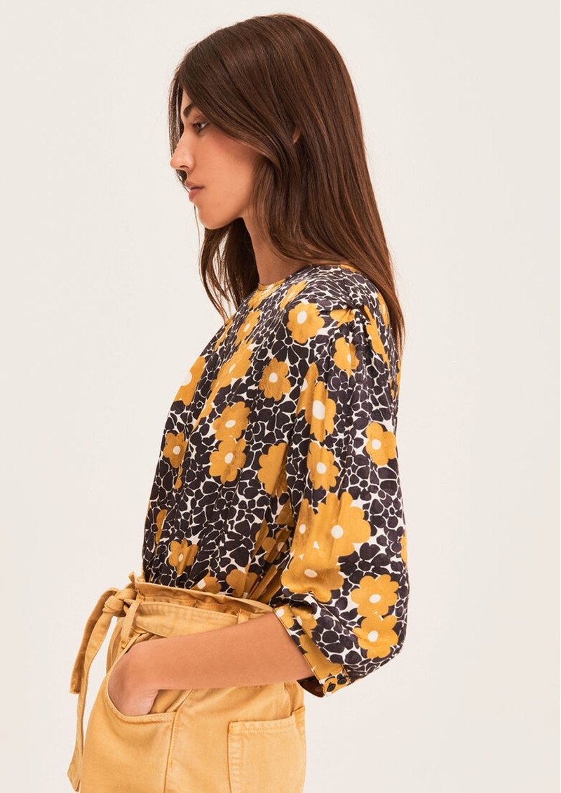 Ba&sh Bali Printed Blouse - Curry main image