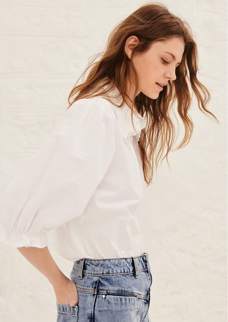 Ba&sh Yseult Cotton Shirt - White main image