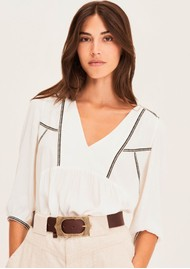 Ba&sh Amber Blouse - Off White