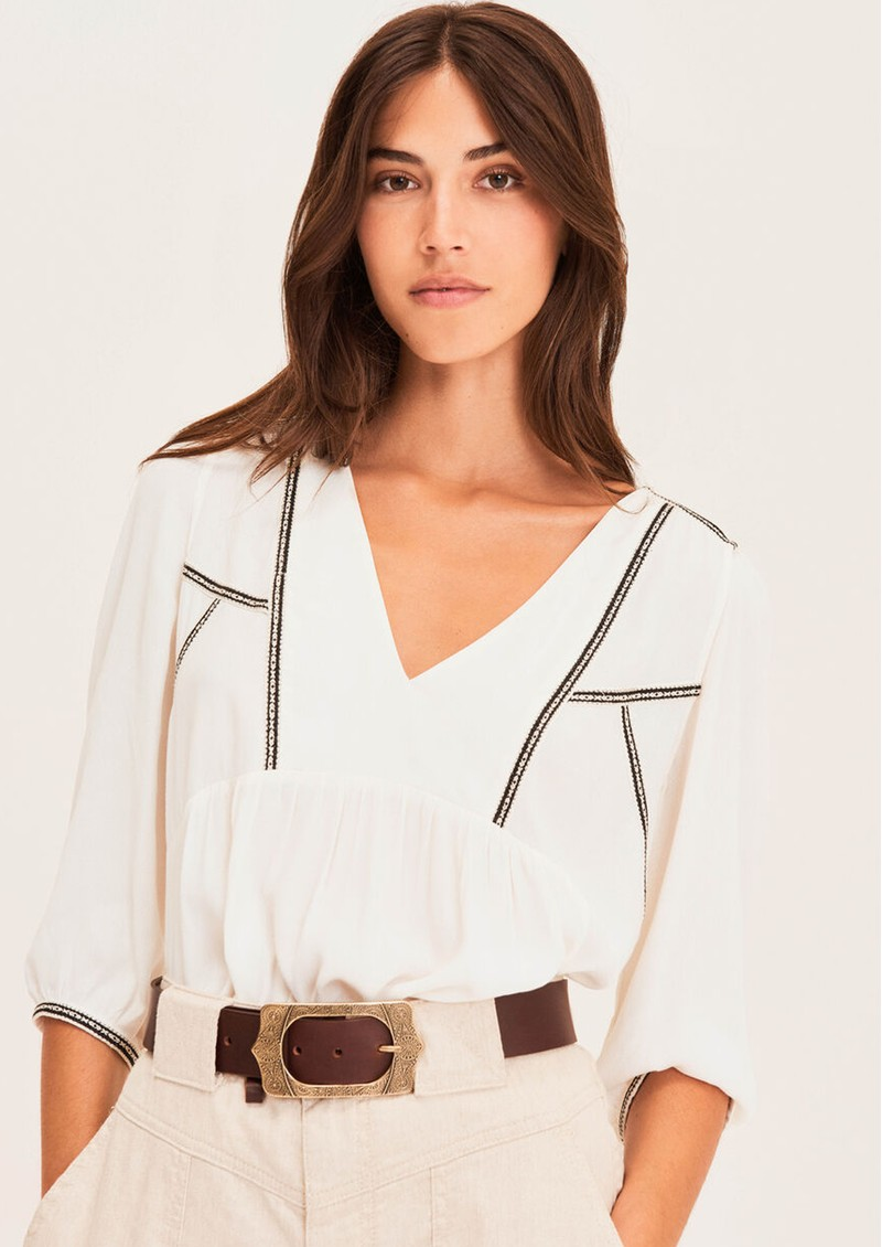 Ba&sh Amber Blouse - Off White  main image