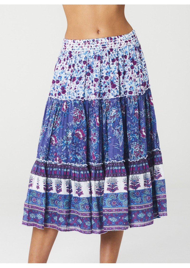 M.A.B.E Alma Midi Printed Skirt - Multi main image