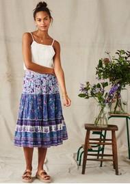 M.A.B.E Alma Midi Printed Skirt - Multi