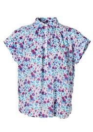 M.A.B.E Alma Short Sleeve Cotton Top - Multi