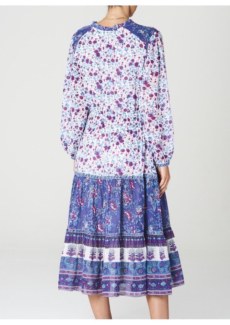 M.A.B.E Alma Printed Midi Cotton Dress - Multi main image