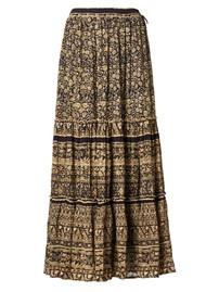 M.A.B.E Farrah Cotton Maxi Skirt - Black & Ecru