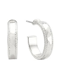 ANNA BECK Small Hammered Hoops - Silver