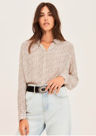 Ba&sh Anita Silk Mix Blouse - Off White