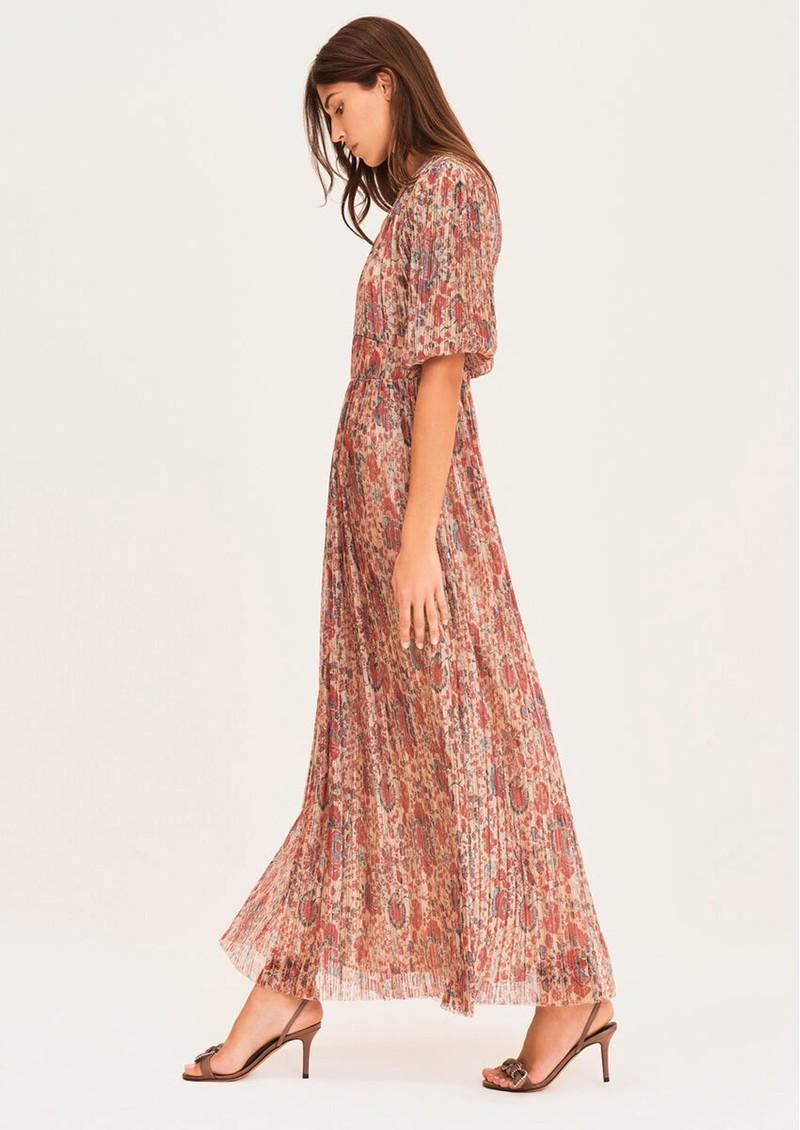 Ba&sh Athena Long Printed Dress - Red main image
