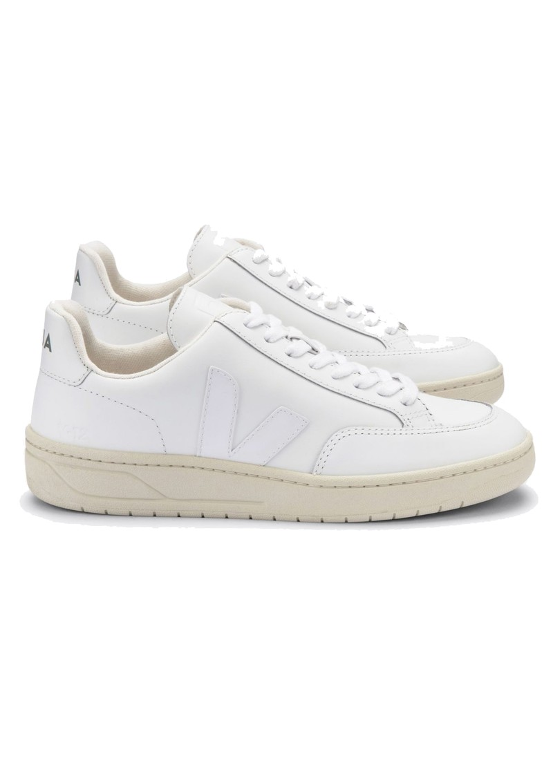 VEJA V-12 Leather Trainers - Extra White main image