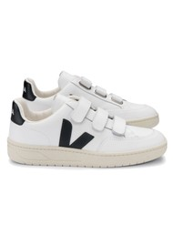 VEJA V- Lock Leather Trainers - Extra White & Black