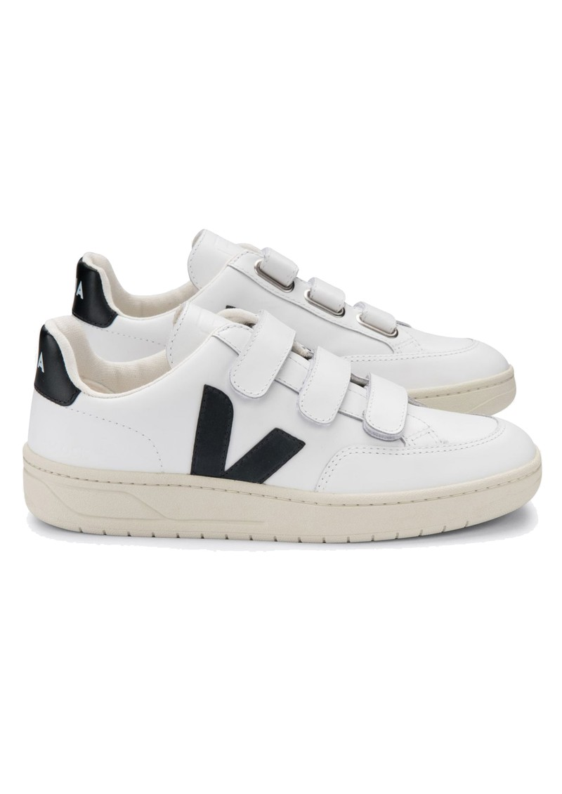 VEJA V- Lock Leather Trainers - Extra White & Black main image