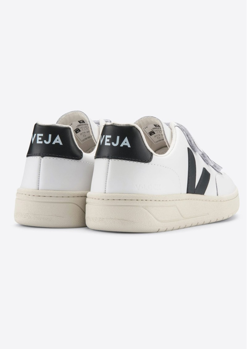 V- Lock Leather Trainers - Extra White & Black main image
