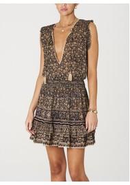 M.A.B.E Farrah Cotton Sundress - Black & Ecru