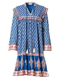 M.A.B.E Madi Midi Printed Dress - Indigo