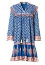 Madi Midi Printed Dress - Indigo additional image