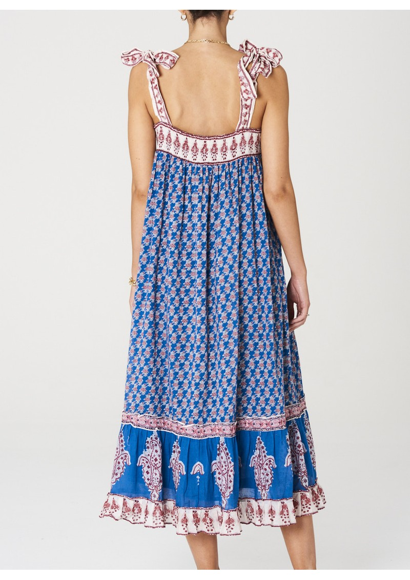 M.A.B.E Madi Maxi Cotton Dress - Indigo main image